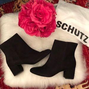 Schutz black Lupe boots  9.5